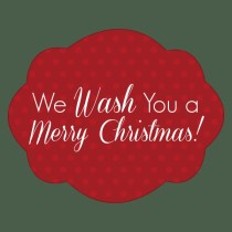 """Get these clever """"We Wash You a Merry Christmas"""" printable tags on MissionToSave.com for a fun DIY gift idea."""