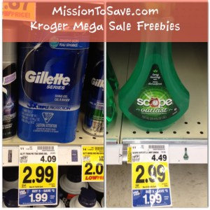 Kroger Free Scope Mouthwash and Gillette Shaving Gel!
