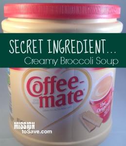 SECRET INGREDIENT in Creamy Broccoli Soup