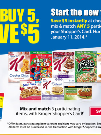 Kellogg's and Kriger Mega Sale