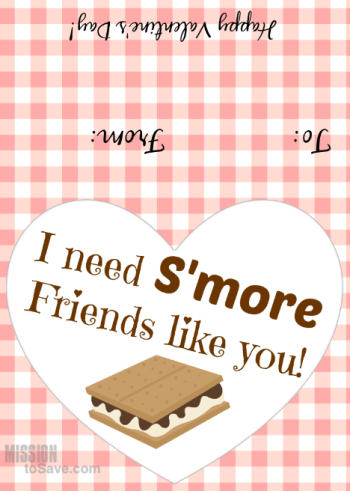 I need S'more Friends Valentine's Day printable tags