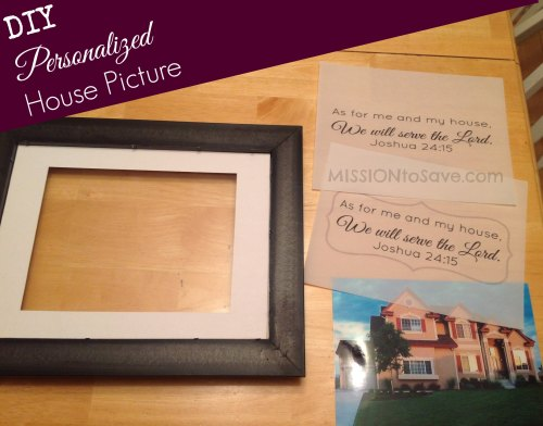 diy personalized house picture