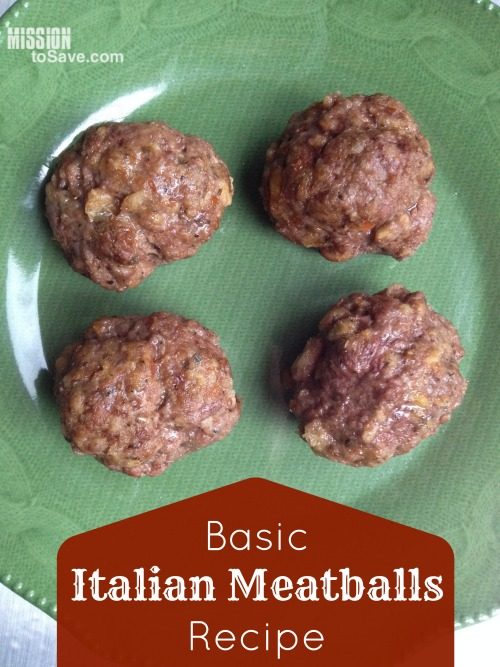 Basic Italian Meatballs Recipe (Perfect for Freezer Cooking)