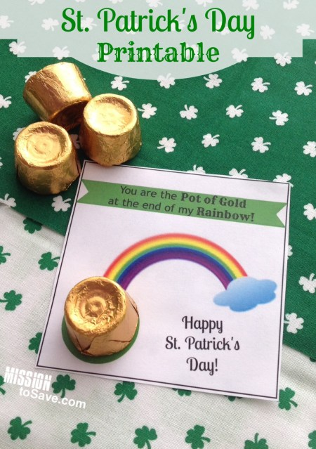 You are the Pot of Gold St. Patrick's Day Printable Tags