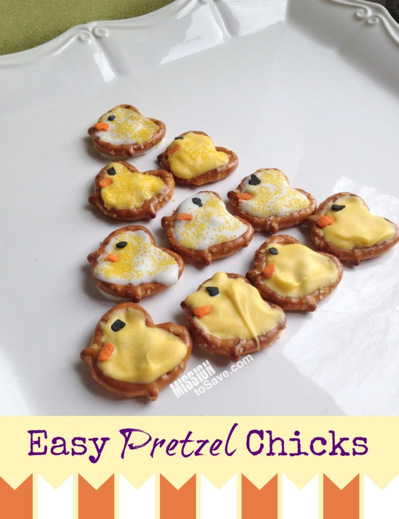 "Easy Pretzel Chicks recipe. Have a ""tweet"" Easter!"