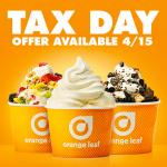 orange leaf tax day freebie