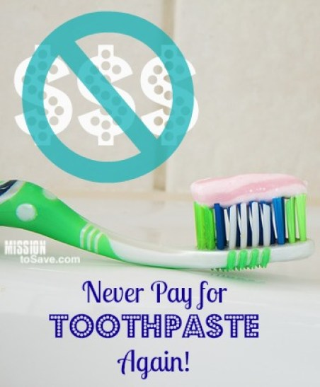 never pay for toothpaste again!
