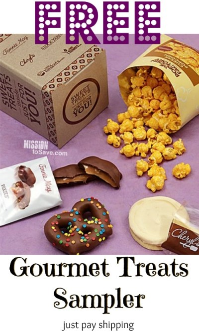 Free Gourmet Treats Sampler from Cheryl's (just pay shipping)