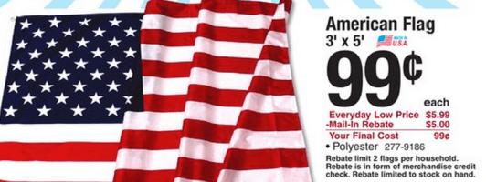 American Flag for Just $0 99 at Menards (After Rebate