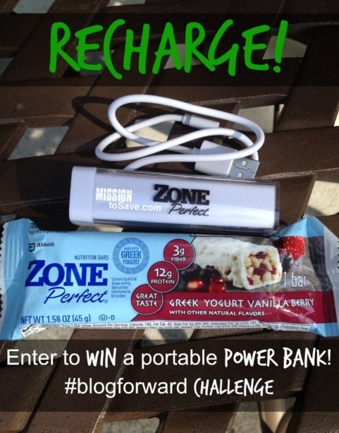 Win a power bank charger from Mission to Save and ZonePerfect #spon
