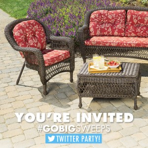 #GoBigSweeps Twitter Party on 6/30, 8 pm.  With @BigLots and @aMissionToSave