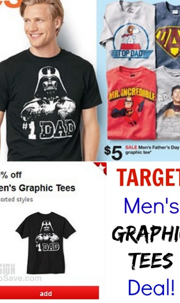 Target Men's Graphic Tees Deal. Perfect for Father's Day!