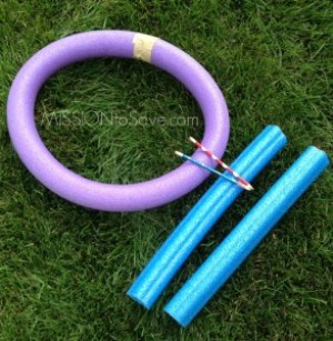pool noodle ring toss game- alternative uses for pool noodles