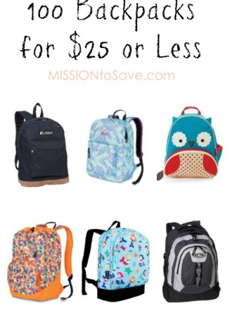 100 Backpacks under $25 for #BackToSchool Shopping