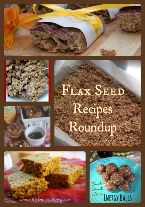 collage of flax seed recipe pictures