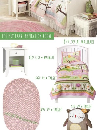 Look for Less: Pottery Barn Girl's Owl Bredroom Inspiration