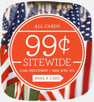 $0.99 Cardstore Personalized Cards