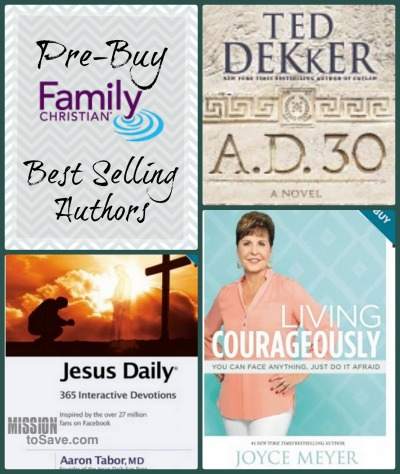 Pre-buy Best Selling Authors on Family Christian Stores