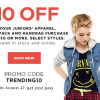 Kohl's Coupon for $10 off $30 Juniors Purchase + More Stacked Savings