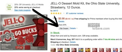 University Jell-O molds coupon