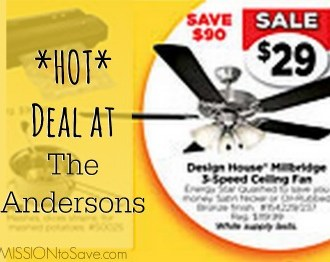 Ceiling Fan Deal at the Andersons.