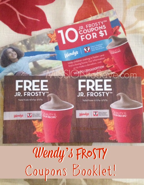 photo regarding Wendy's Printable Coupons identified as Wendys Frosty Discount codes Booklet- $1 for 10 Absolutely free Jr. Frostys