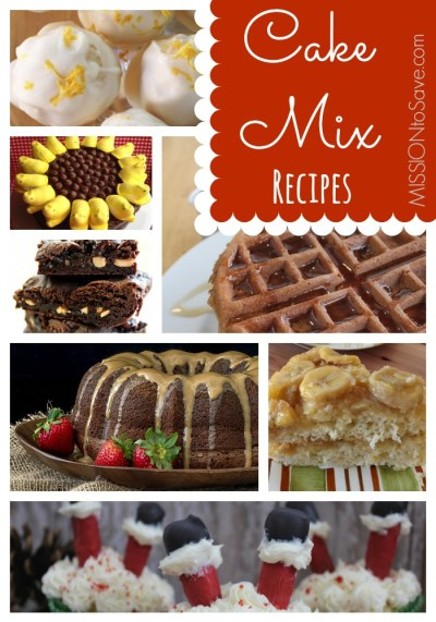 Boxed Cake Mix Recipes Roundup