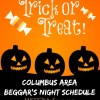 2016 Columbus Trick or Treat Schedule (Central Ohio Area)
