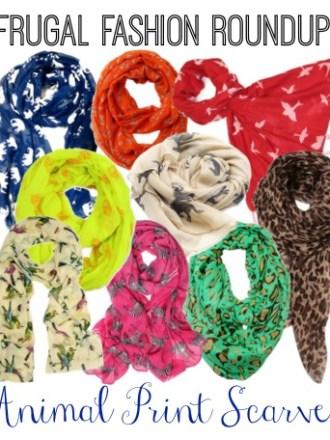 Frugal Fashion Roundup: Wild Animal Print Scarves