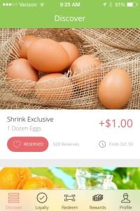 Shrink coupon app