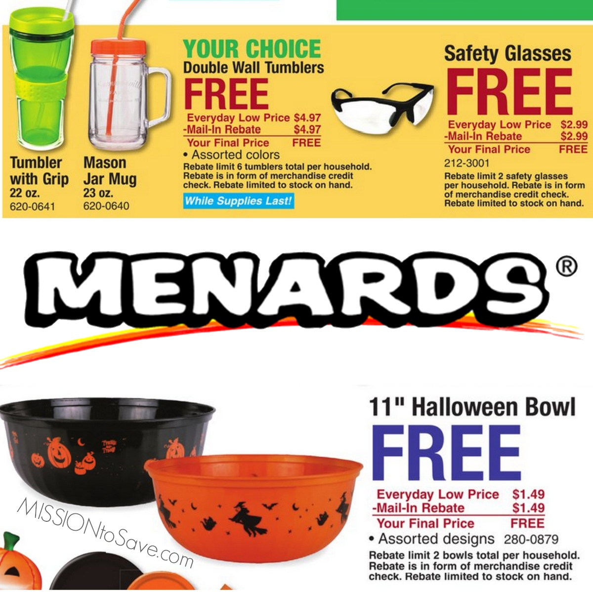 Menards Free After Rebate Deals: Insulated Tumblers