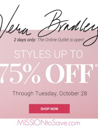 Vera Bradley Sale- 2 Days Only! Mark some items off your gift list!