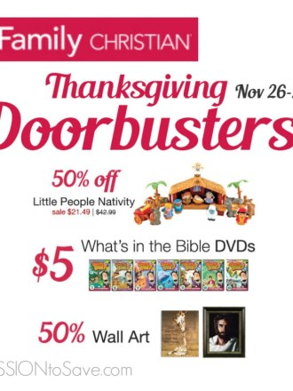 Family Christian Thanksgiving Door Busters Sale- Lowest price on Fisher Price Little People Nativity!