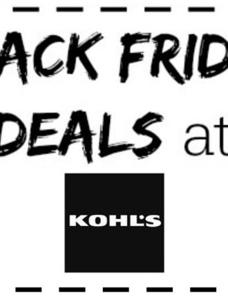 The best Kohl's Black Friday deals!