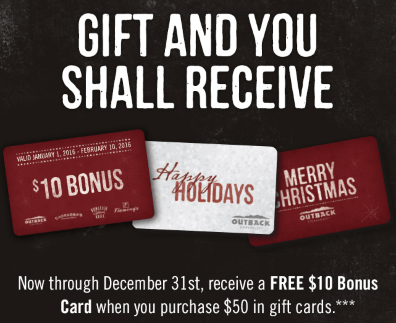 Tis the Season for Holiday Bonus Gift Card Offers! - Mission: to Save