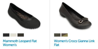 Womens Ballet Flat Crocs