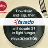 Favado and Savings.com #FavaDONATION