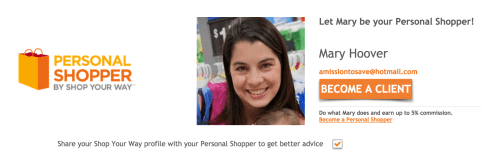 Shop Your Way Personal Shopper