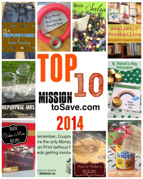 Top 10 Posts on MissionToSave.com from 2014