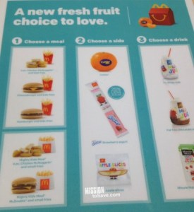 happy meal choices