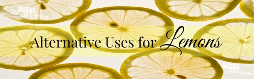 Alternative Uses for Lemons- a thrifty thinking list.