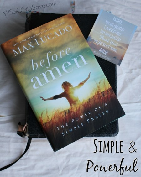 Before Amen by Max Lucado is Simple and Powerful #FCblogger