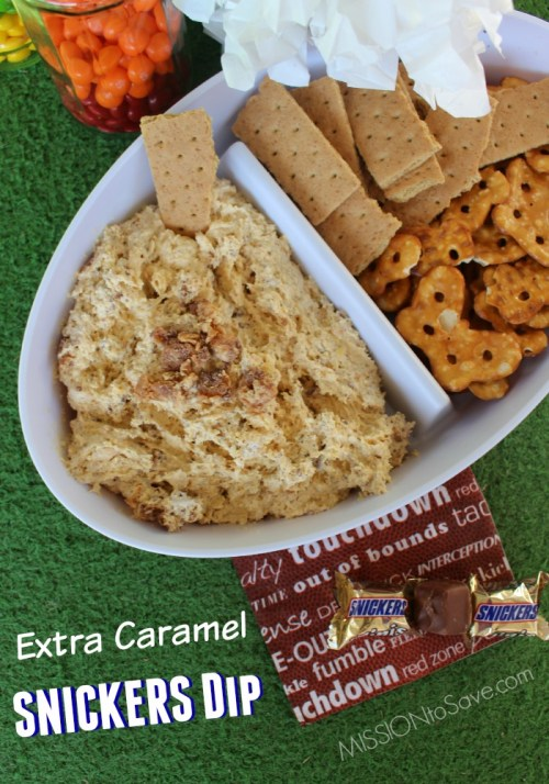 Extra Caramel SNICKERS Dip recipe.  Perfect addition to your #BigGameTreats #ad