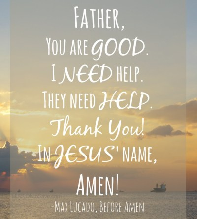 "Max Lucado ""Before Amen"" Pocket prayer printable reminder cards"