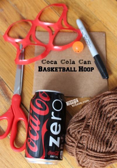 DIY Coca Cola Can Basketball Hoop supplies