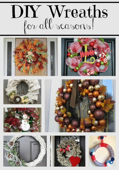 These DIY Wreaths welcome in any season. Looking for holiday decor? Check out this roundup of wreaths for all seasons.