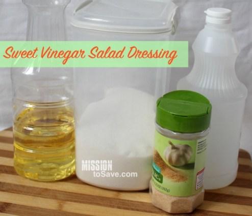 Sweet Vinegar Salad Dressing ingredients