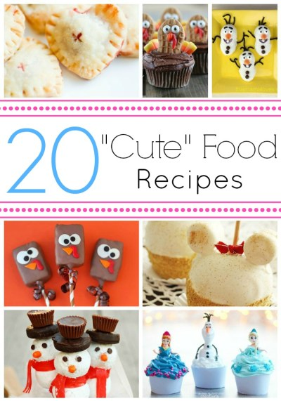 "Check out these Cute Food recipes. They are sure to be a hit at your party or holiday event.  They definitely have the ""aww, cute"" factor."
