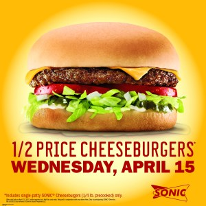 Tax Day Sonic Specials this week