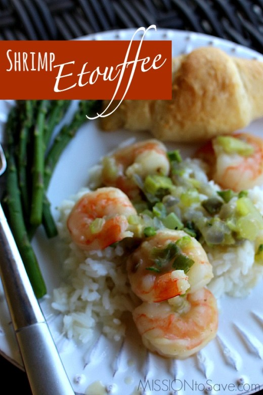 """Try this simple Shrimp Etouffee recipe. It is a """"northern-ized"""" version of a Creole classic- with just enough Cajun """"oo-ee""""!"""
